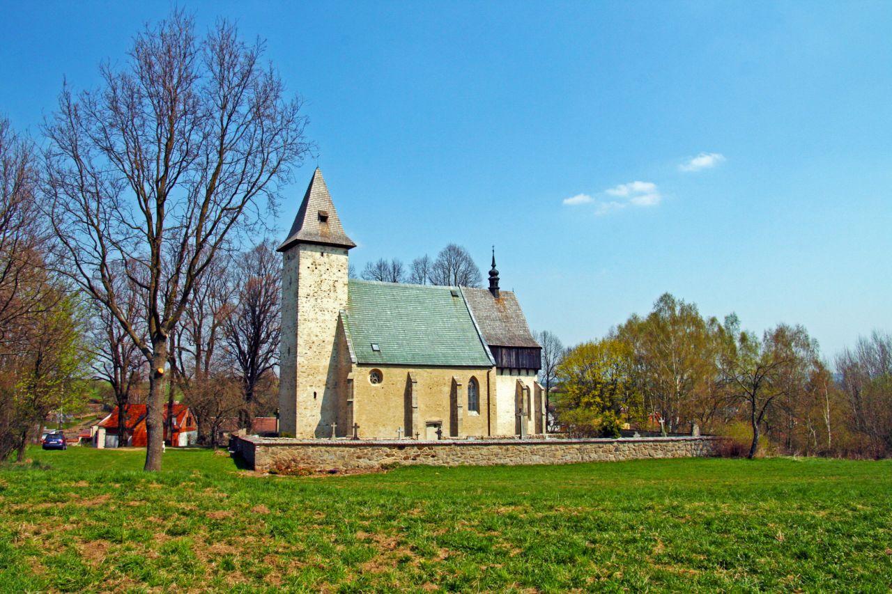 Kostel sv. Linharta v Lidéřovicích